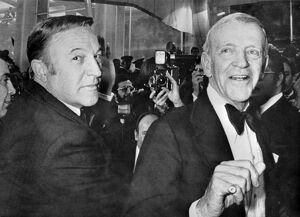 American Actors Gene Kelly (L) and Fred Astaire Cannes Film festival Pose