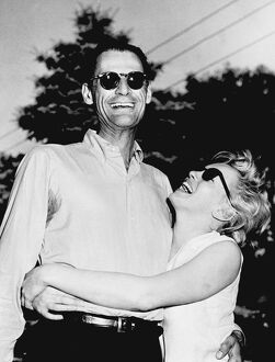 American writer Arthur Miller and actress Marilyn Monroe