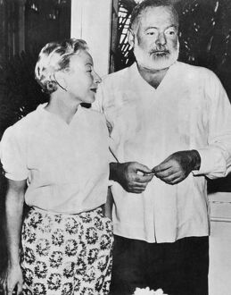 American writer Ernest Hemingway with his wife Mary Welsh