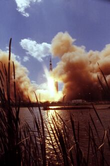 Apollo 17 lifts off from launch complex on December 07, 1972