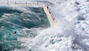 AUSTRALIA-WEATHER-BONDI-WAVES