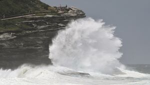 AUSTRALIA-WEATHER-TAMARAMA-WAVES