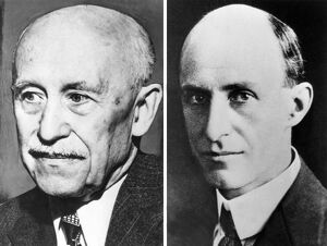 Aviation Pioneers Orville (L) and Wilbur Wright