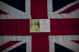 BRITAIN-ROYALTY-QUEEN-FLAG