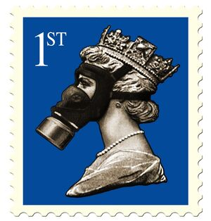 BRITAIN-STAMP-QUEEN ELIZABETH II-GAS MASK