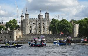BRITAIN-TOWER OF LONDON-BOAT
