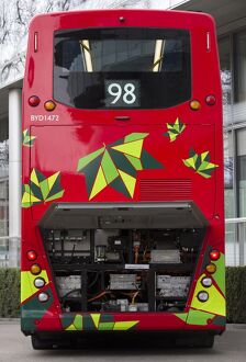 BRITAIN-TRANSPORT-ELECTRIC-RED-BUS