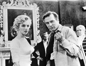 Director Laurence Olivier Directs Marilyn Monroe