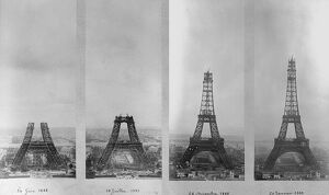 eiffel tower construction montage