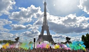 FRANCE-COLOR RUN-SPORT-ENTERTAINMENT