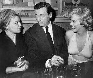 French actors Simone Signoret and her husband Yves Montand Chat with American Star