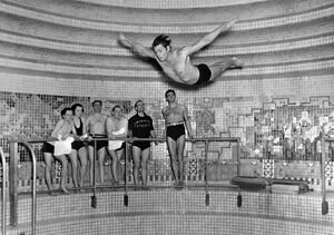 Johnny Weissmuller Diving Action
