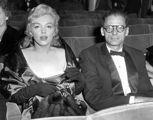 Marilyn Monroe and Arthur Miller at the Comedy Theatre in London
