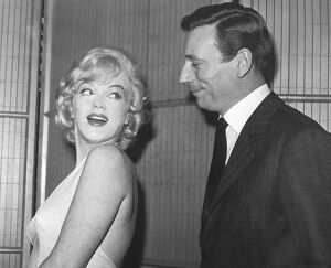 Marilyn Monroe and her Co-star Yves Montand
