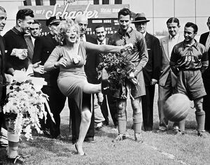 Marilyn Monroe Football Kick, 1957