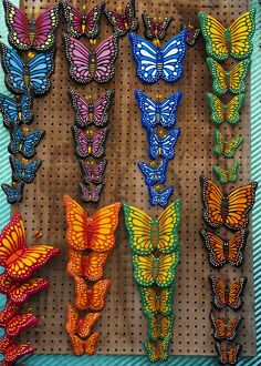 MEXICO-THEME-MARKETS-BUTTERFLIES