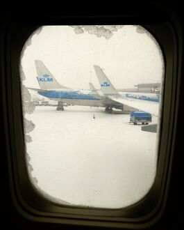 NETHERLANDS-WEATHER-AIRPORT-SNOW