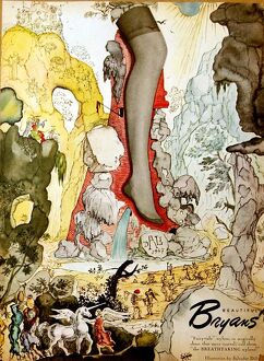 Salvador Dali Adverts for stockings