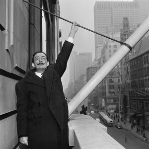 Salvador Dali, New York 1954