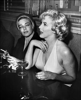 Simone Signoret and American star Marilyn Monroe