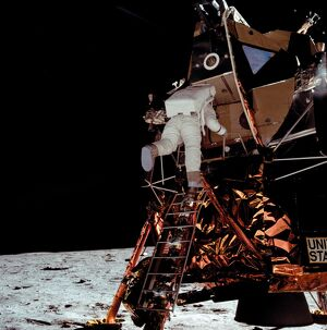 SPACE-MOON-LEM-APOLLO XI-ALDRIN