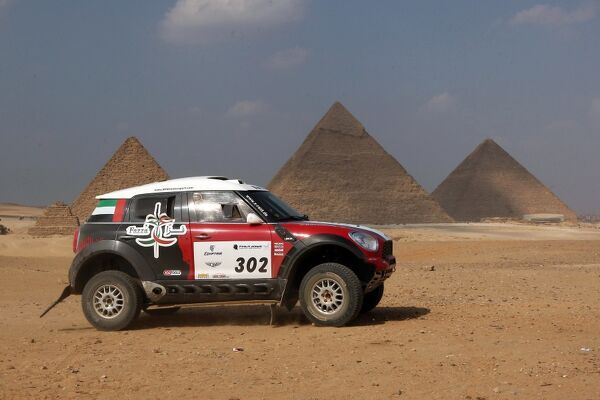 Moto-Rally-Egy. UAE's Khalifa al-Mutaiwei and his co-driver Andreas Schulz