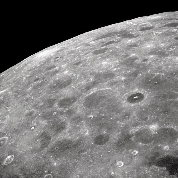 Craters on the surface of the Moon Lunar Limb from Apollo 10 Photo Print