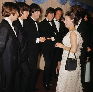 The Beatles and Princess Margaret Attend 'The Help' Premier
