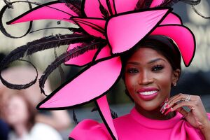 offbeat quirky images/offbeat 2019/fashion hat racing ascot pink