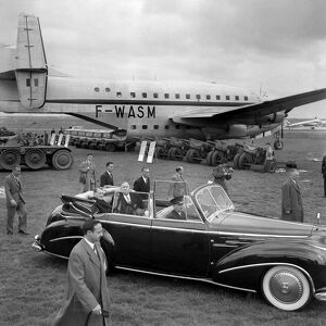vintage archive/transport aviation paris air/france aerospace show