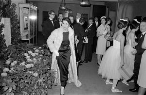 French dancer Zizi Jeanmaire arriving at the Champs-Elysees Theater