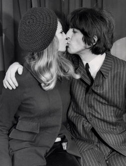 George Harrison Kisses Patti Boyd