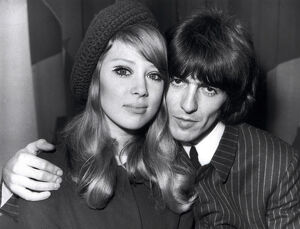 George Harrison and his young wife, Patti Boyd, 1966