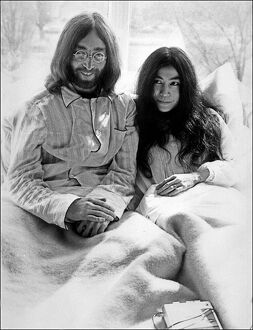 John Lennon and Yoko Ono 'Bed-In for Peace'