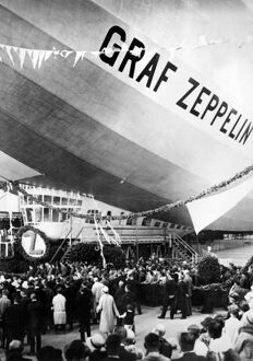 LAUNCHING OF THE GRAF ZEPPELIN