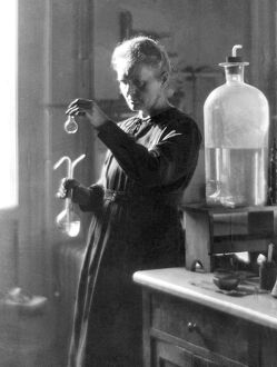 Professor Marie Curie Working in the Laboratory