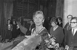 Rudolf Nureyev Receives Flowers