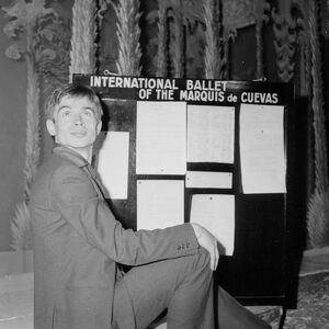 Soviet born ballet dancer Rudolf Nureyev Poses at the Theatre des Champs Elyses