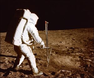 SPACE-MOON-APOLLO XI-ALDRIN