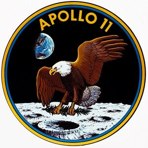SPACE-MOON-APOLLO XI-INSIGNIA