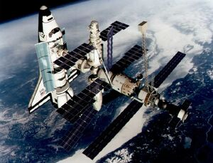 US-SHUTTLE-SPACE STATION