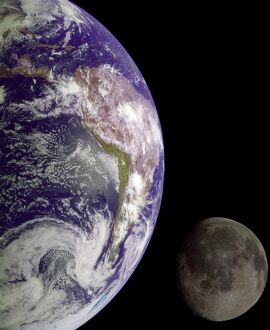 US-SPACE-GALILEO IMAGE-EARTH AND MOON